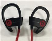 BEATS POWERBEATS 2 WIRELESS EARBUD HEADPHONES - BLACK AND RED